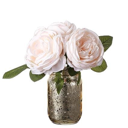Amazon V More Gold Mercury Glass Mason Jar Flower Vase