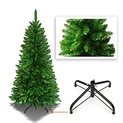 benefitusa 5 artificial christmas tree with metal stand xmas slim spruce natural decor - Amazon Christmas Tree Stand