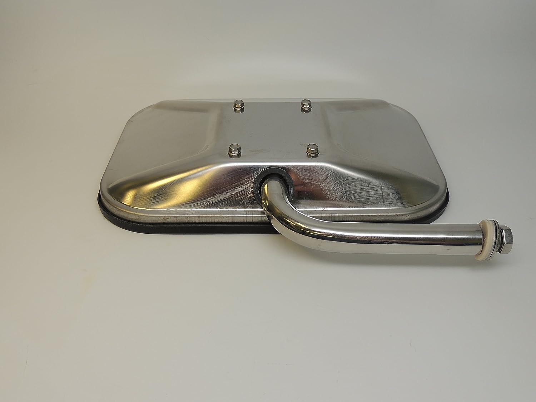 Truck-Lite 97662 Medium Duty Truck Mirror 7-1//2x10-1//2 Rectangular Stainless steel 5 elbow