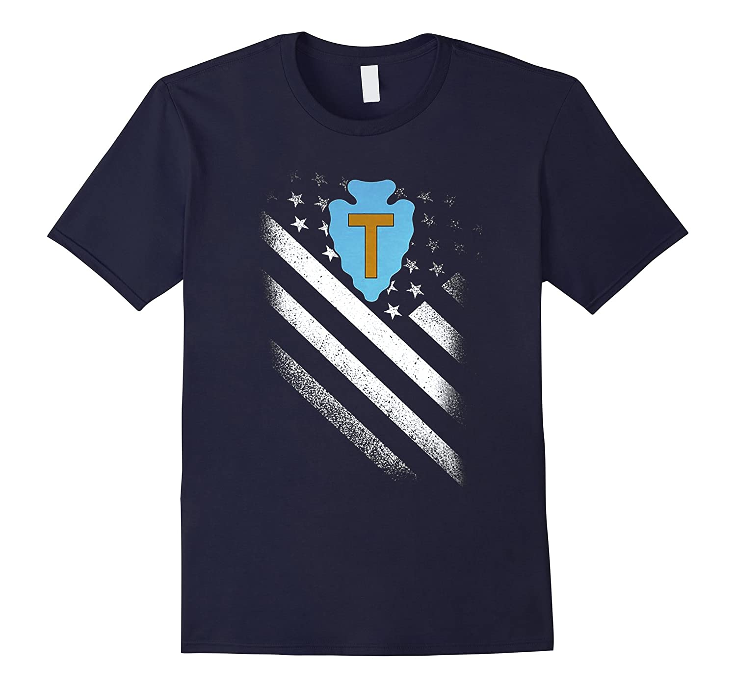 36TH INFANTRY DIVISION AMERICAN FLAG TSHIRT-Art