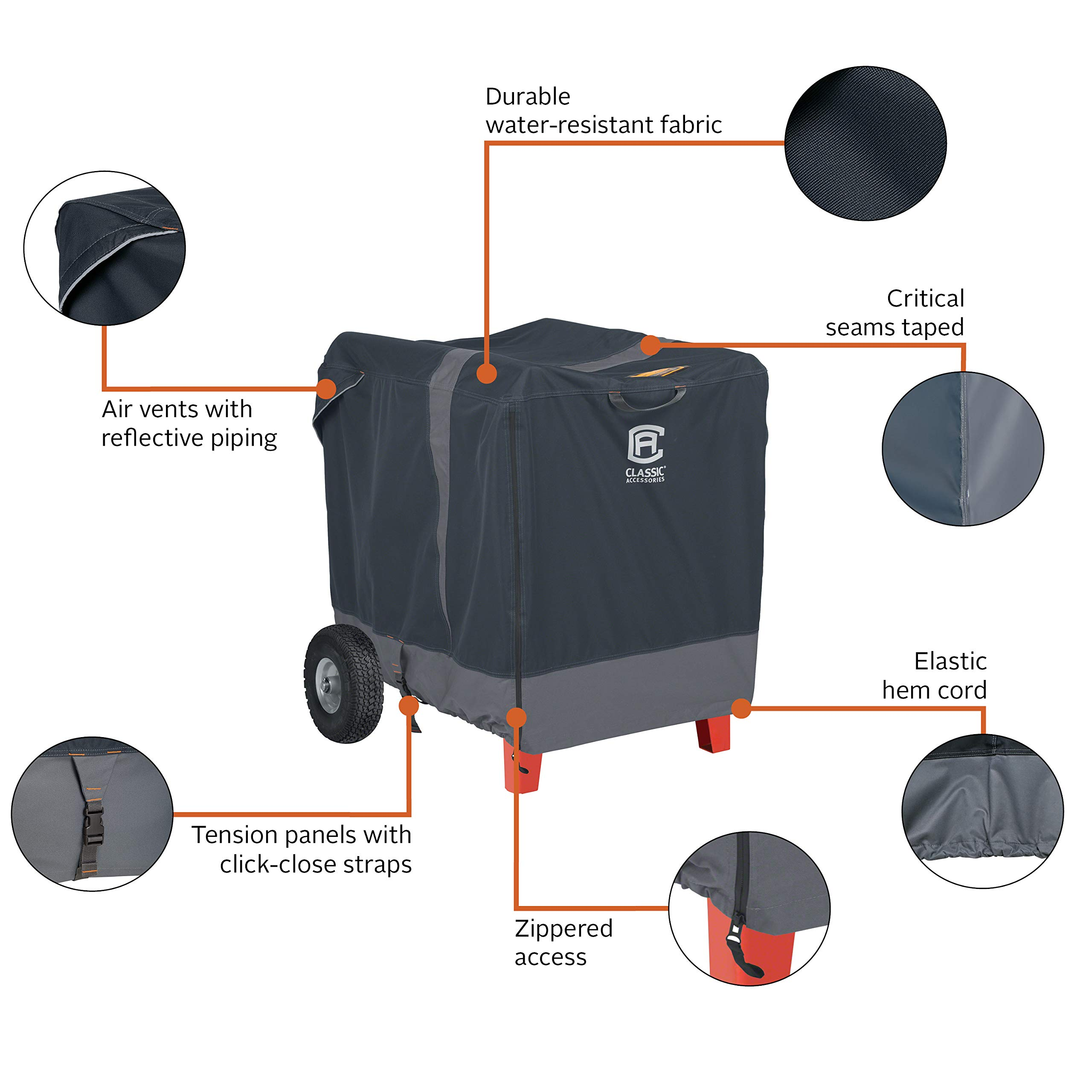 Classic Accessories StormPro RainProof Heavy Duty Generator Cover, XX-Large by Classic Accessories (Image #4)