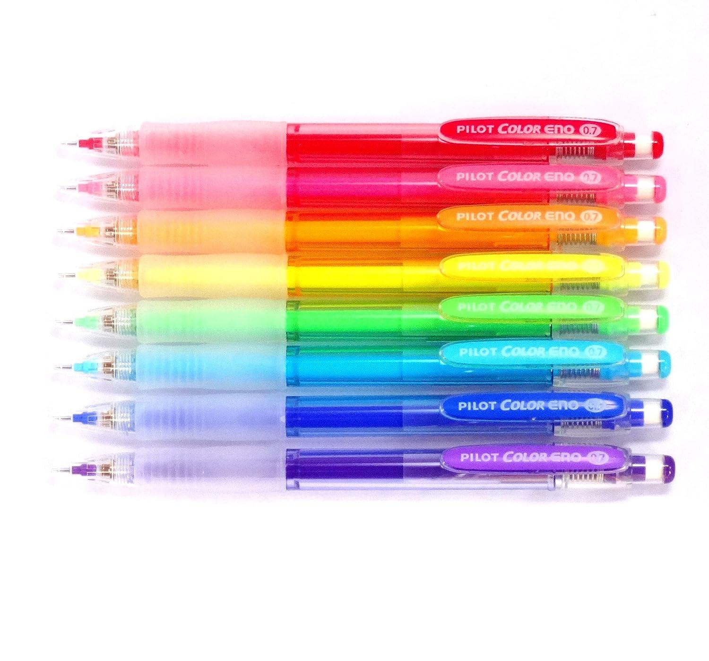 Pilot Color Eno Mechanical Pencil, 0.7mm, 8 color set (Japan Import) [Komainu-Dou Original Package] BC29345