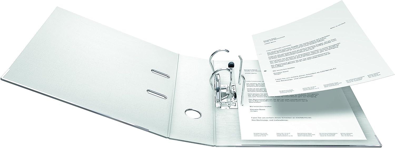 Raccoglitore originale Falken Chromocolor Premium Made in Germany Rivestimento esterno in plastica Confezione da 10 10er Pack schmal Nero