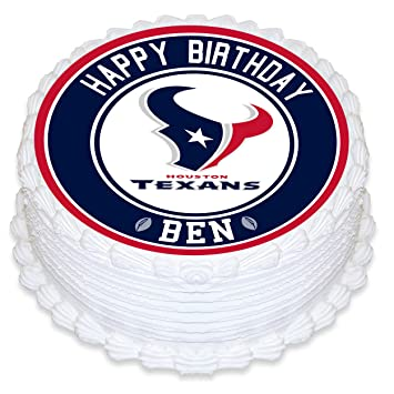 Houston Texans Edible Image Cake Topper Personalized Birthday 8quot Round Circle Decoration Custom Sheet Party