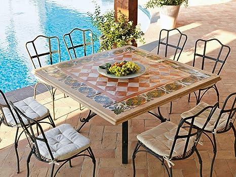Dafnedesign. COM - Table de Jardin - Table Thor carré cm 140 x 140 ...