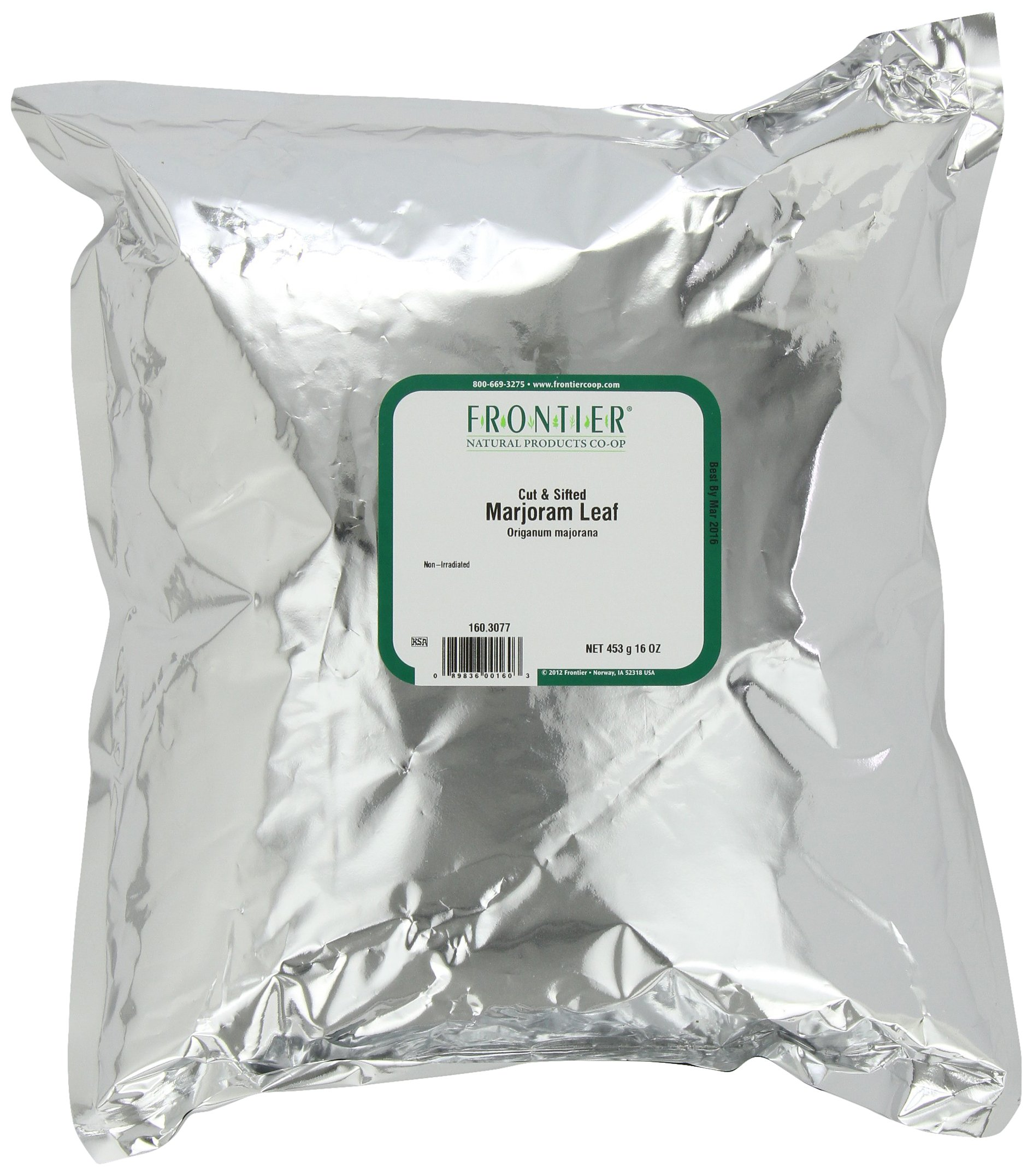 Frontier Marjoram Leaf C/s, 16 Ounce Bags (Pack of 2)