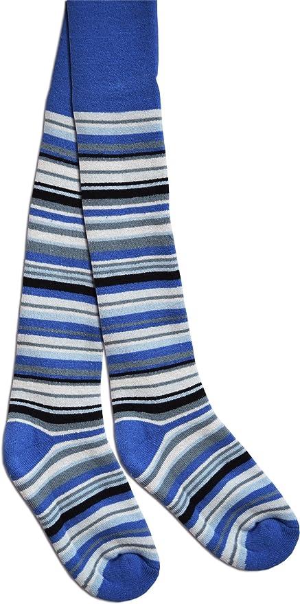 2 pares de Leotardos con elastano térmicos para niños y niñas | Ringel Look Azul azul