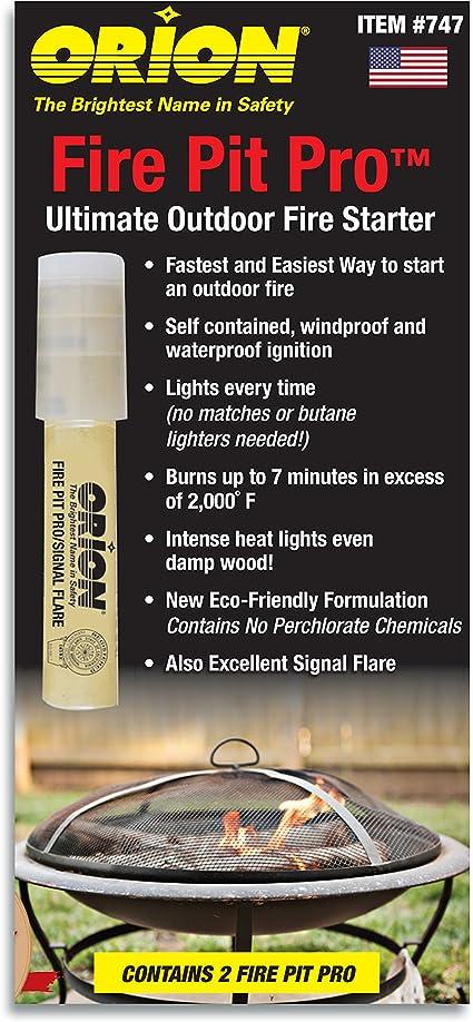 Orion Safety Fire Starter - Quema hasta 7 Minutos - Resistente al Agua Ecológica Formulación - Impermeable de Encendido y Resistente al Viento -