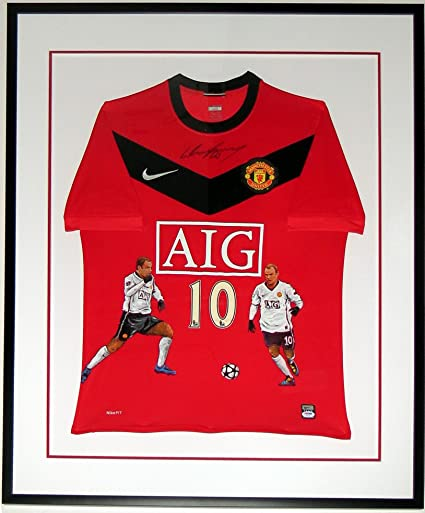 2ba21b0ce Wayne Rooney Signed Painted Nike Manchester United Jersey - PSA DNA COA  Authenticated - Professionally Framed