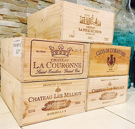 Amazon Com Vine Re Design 1 French Original Wine Crates Twelve Count Bottles Original Bottles Box Home Kitchen