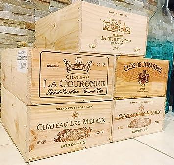 1 French Original Wine Crates Twelve count Bottles