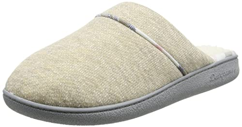 Closed Toe Scuff - Pantuflas Mujer, Color Beige, Talla L Dearfoams