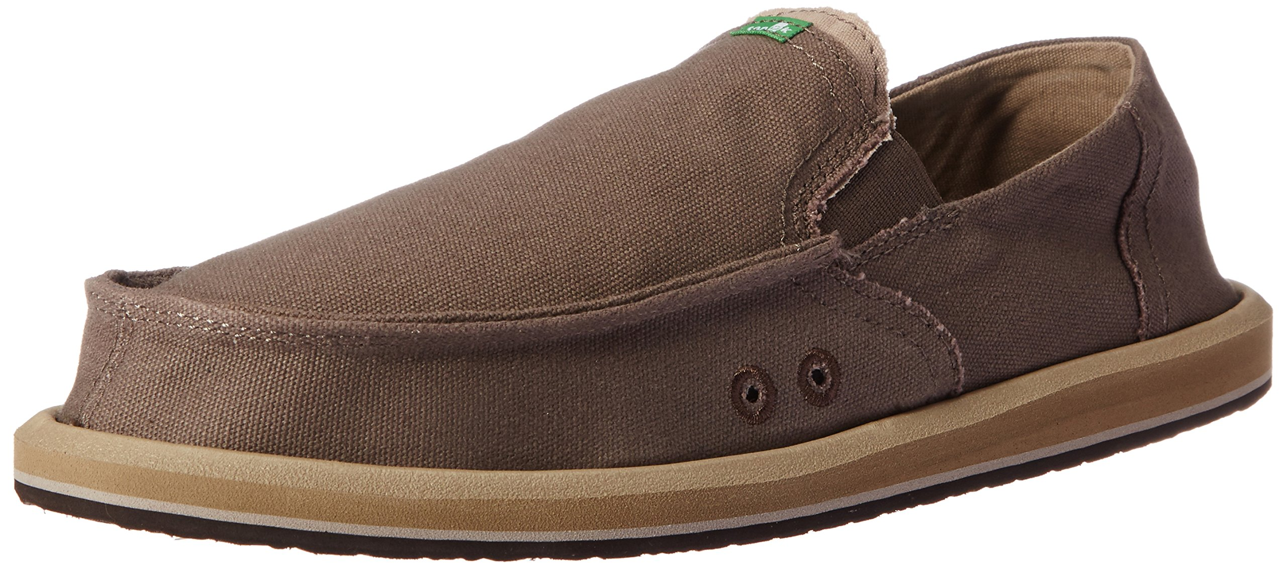 Sanuk Men's Pick Pocket Slip On, Brindle/Natural, 8 M US