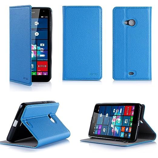 4 opinioni per Blu Custodia Pelle Ultra Slim per Microsoft Lumia 532 Dual Sim smartphone- Flip