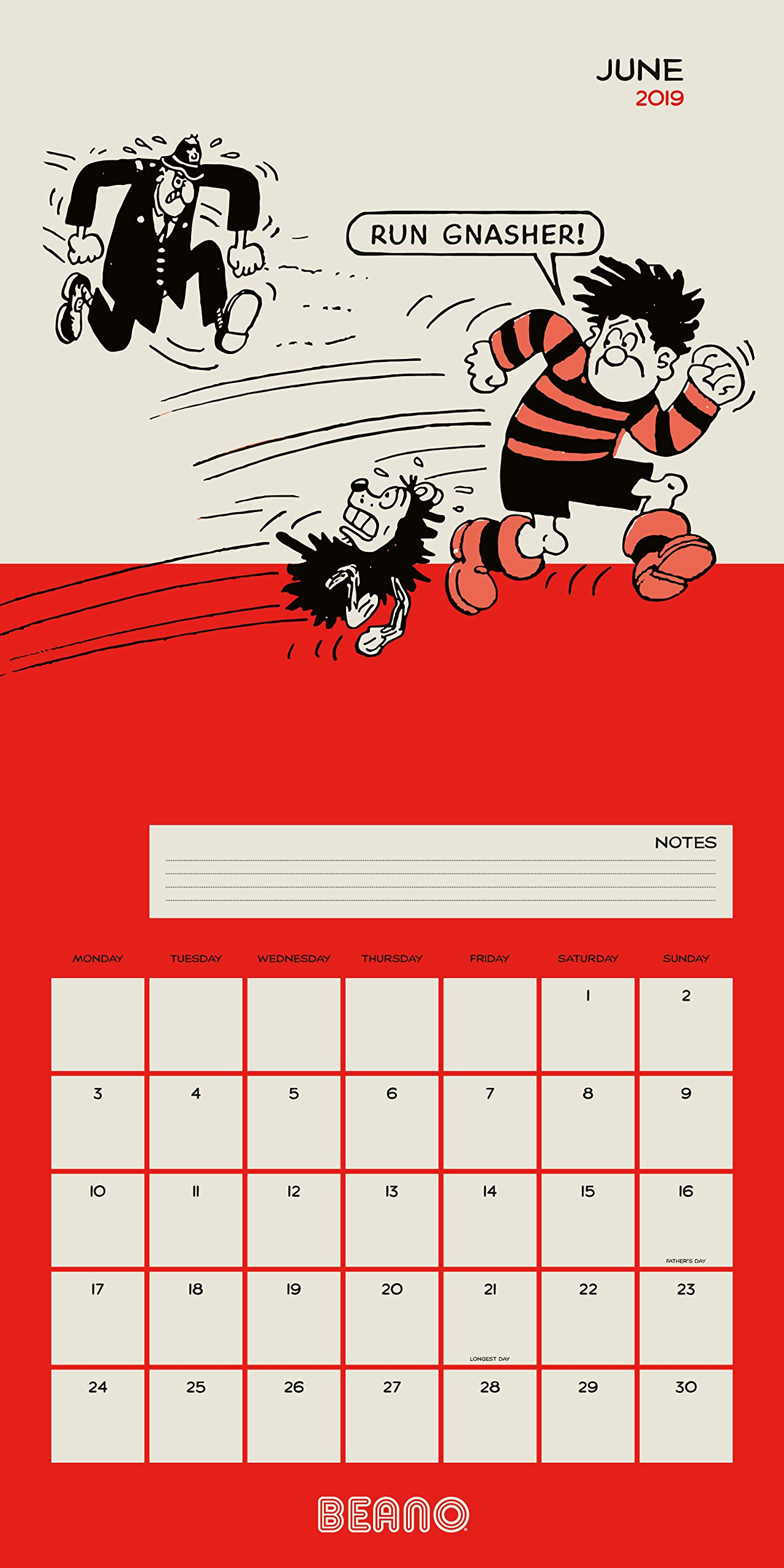 Official 2019 Beano Classic Dennis the Menace Square Calendar Gift Wall Hanging Office Calendars Office Equipment & Supplies