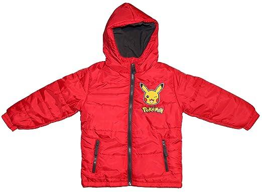 Kinder Winterjas.Pokemon Kinder Winterjas Pikachu Rood Amazon Fr Vetements Et