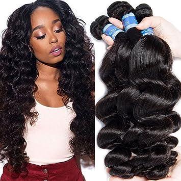 Amazon Com Vipbeauty Loose Body Wave Bundles Of Brazilian Hair