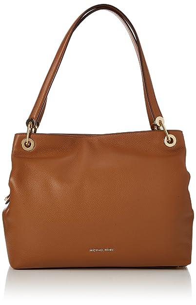 919e54621e766f Amazon.com: Mk Raven XL Acorn Brown Leather Handbag New: Shoes