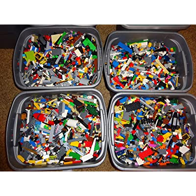4 Pounds Bulk Lot! Random Parts, Pieces & Bricks: Toys & Games