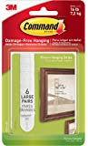 Command Picture Hanging Strips, Large, White, 6-Pairs (17206-6ES)