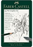 Faber-Castell PITT Graphite 11-Piece Small Tin Introductory Professional Quality Set in a Metal Case