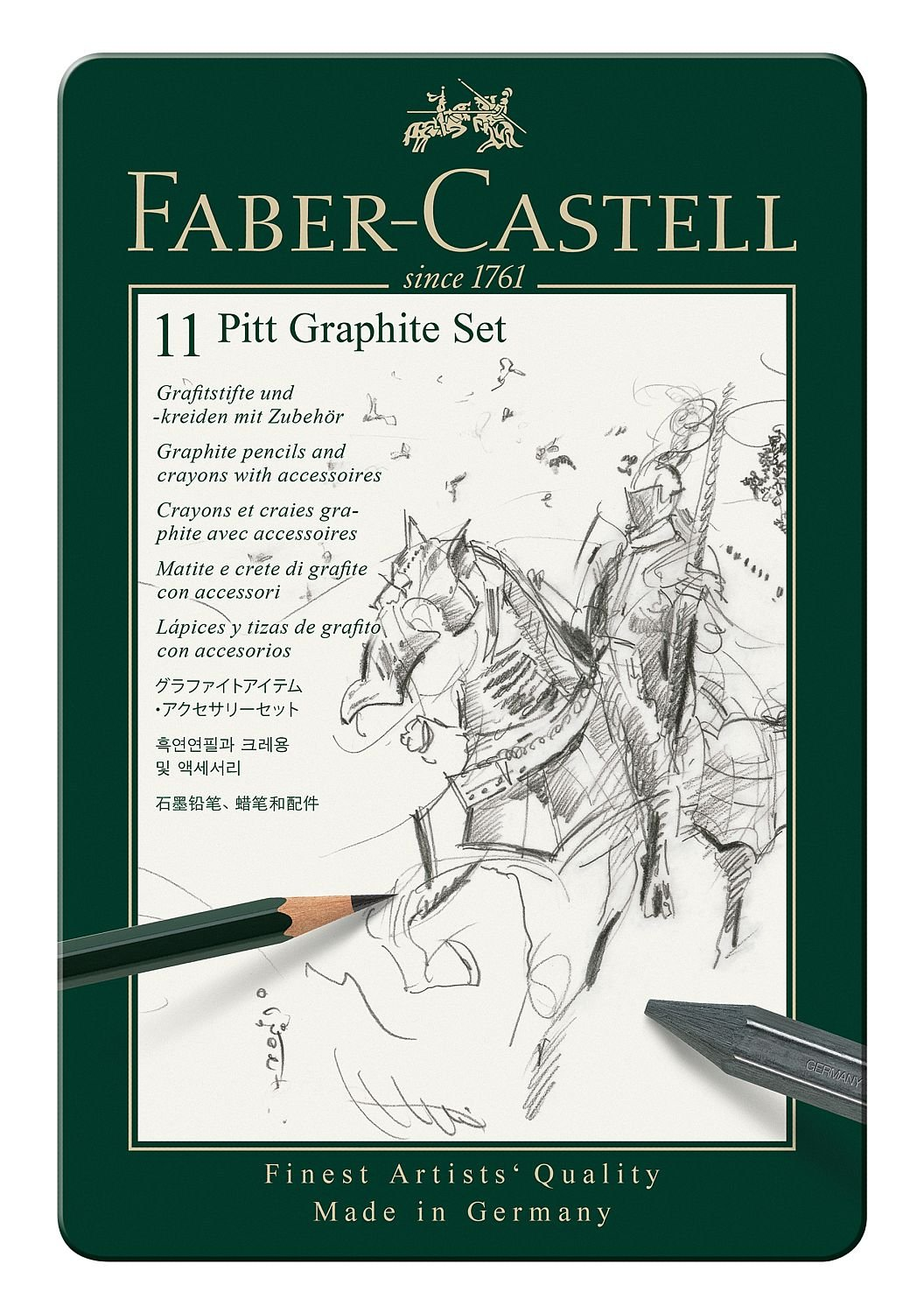 Faber-Castel 26 Piece Pitt Graphite Tin Set 112974