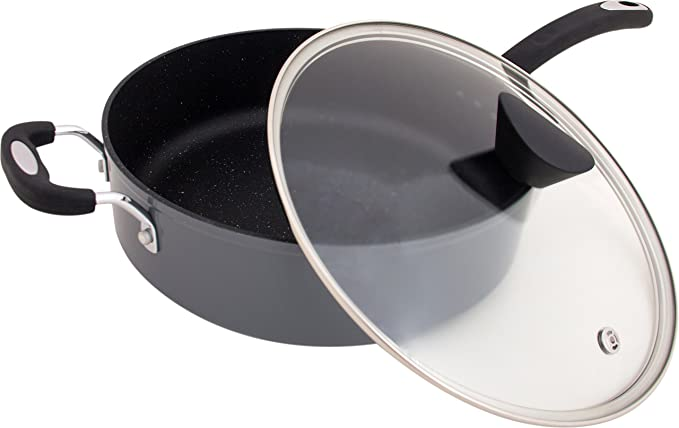 Granite Gray : The Stone Earth All-In-One Sauce Pan by Ozeri, with 100% APEO & PFOA-Free Stone-Derived Non-Stick Coating from Germany Frying Pans at amazon