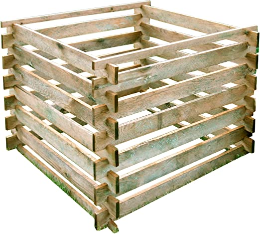 Compostera de madera, 90 x 90 cm, montaje mediante sistema de ...