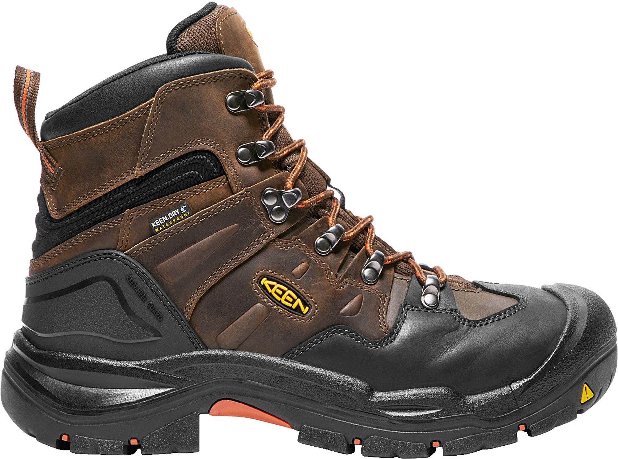 KEEN Utility Coburg 6'' WP (Steel Toe), Men's Work Boot, Cascade Brown/Brindle, 15 D by KEEN Utility