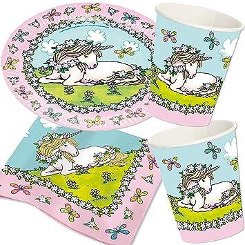 Carpeta de 37 Piezas Set de Fiesta * Unicornio Finja ...