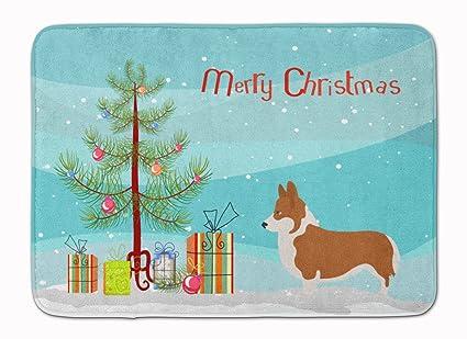 carolines treasures pembroke welsh corgi christmas floor mat 19hx27w multicolor - Corgi Christmas
