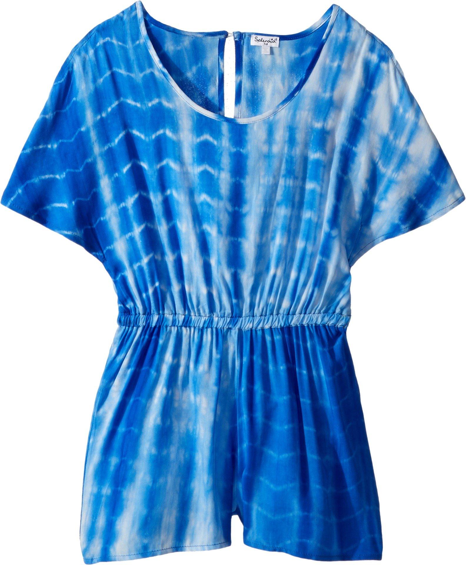Splendid Big Girls' Tie Dye Romper, Marina Tie Dye, 10