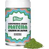 MatchaBar Ceremonial Grade Matcha Green Tea Powder | Antioxidants, Energy, & Amino Acids | Premium, First Harvest from Kagoshima, Japan | 80g Tin = 40 Servings