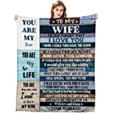 to My Wife Ultra-Soft Micro Fleece You are My Life Blanket Microfiber Valentine's Day Blanket Luxury Blanket for Bedding Sofa