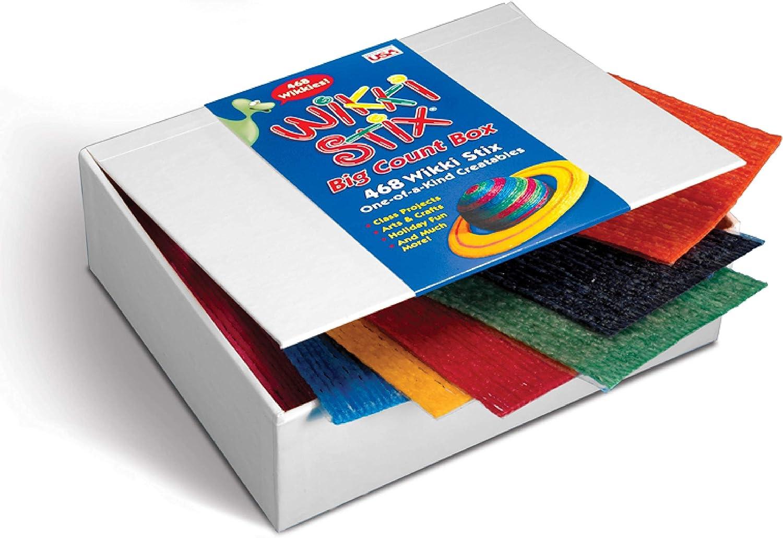 Wikki Stix WKX805 Big Count Box of 468, Yarn/Food Grade Wax