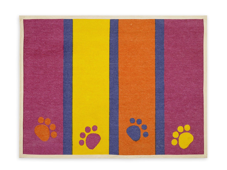 (48cm by 70cm ) Fashion Forward Cotton Mat 33cm x 60cmPaws & Stripes
