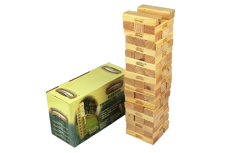 Traditional Garden Games Tumbling Tower Geschicklichkeitsspiel für den Garten