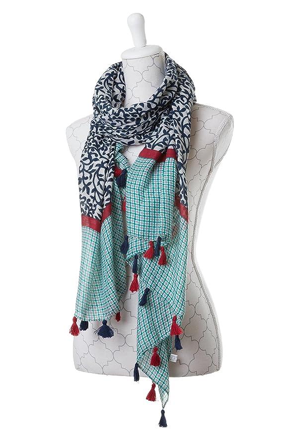ee2c942616c7 ColmagBoutique Grand Foulard Femme Multicolore Echarpe Mousseline Effet Lin  (Multicolore) (Multicolore) (Multicolore)  Amazon.fr  Vêtements et  accessoires