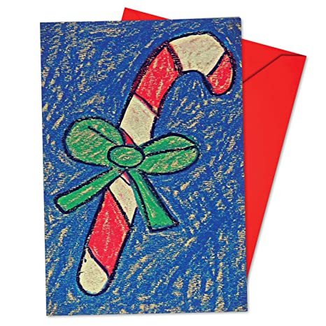 Christmas Notecard.B6739fxsg Box Set Of 12 Christmas Coloring Christmas Notecard Featuring A Sweet Children S Drawing Of Christmas Motifs With Envelopes