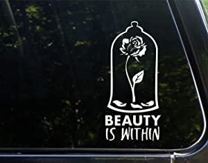 "Beauty is Within - 4-3/4"" x 6-1/2"" - Vinyl Die Cut Decal/Bumper Sticker for Windows, Cars, Trucks, Laptops, Etc."
