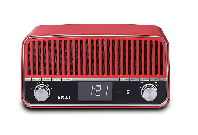Zwembad West Nijmegen : Akai apr500rd retro radio mit bluetooth rot: amazon.de: audio & hifi