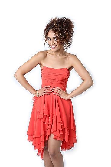 1b9fe87aa1c Lipsy - Robe - sans Manche - Femme Rose Corail 36  Amazon.fr ...