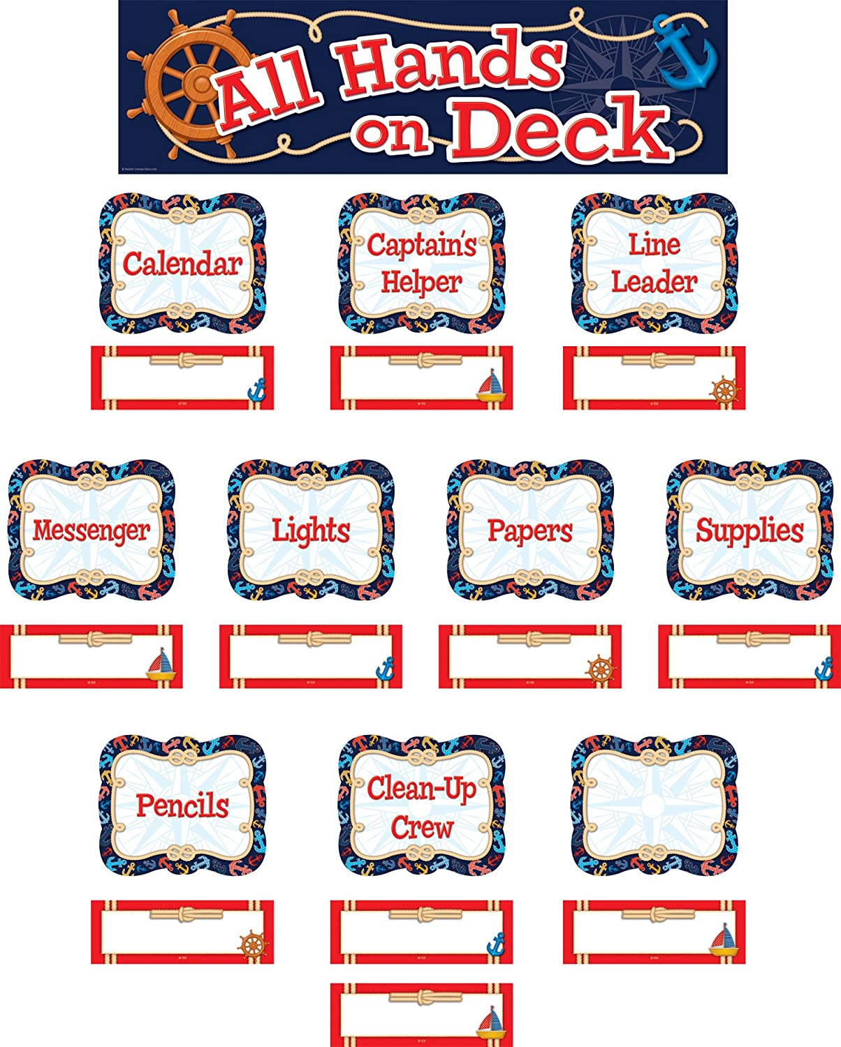 Nautical All Hands on Deck Classroom Jobs Mini Bulletin Board