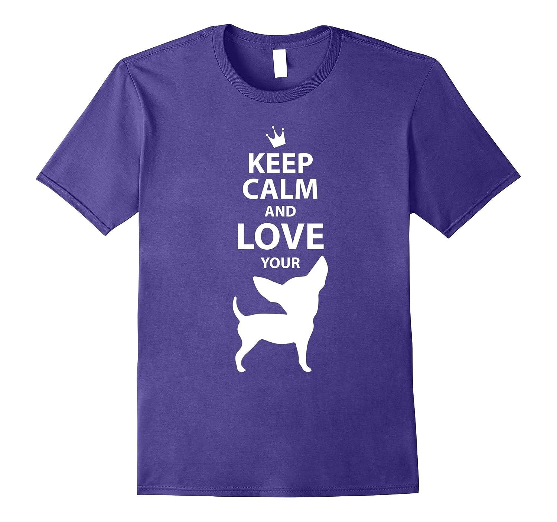 Black Chihuahua Shirt Keep Calm-Art