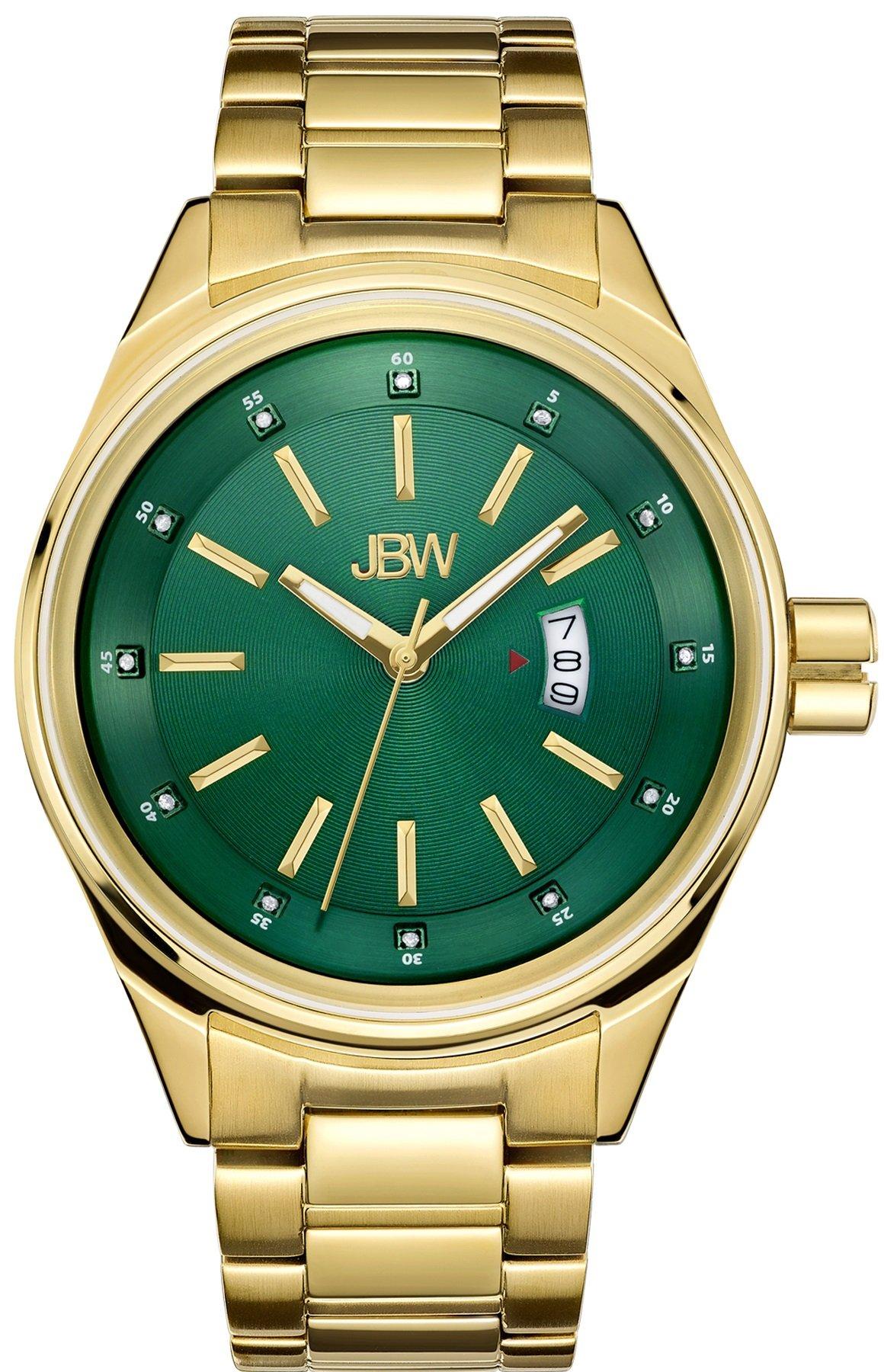 Jbw Men's Genuine Diamond 1/8 Ctw J6287I Rook 18K Gold-Plated Stainless Steel.. 2