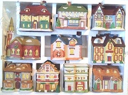 Christmas Village.Amazon Com 10 Piece Christmas Village Dickens Of London