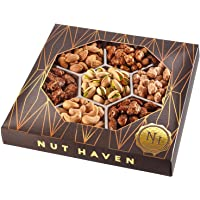 Holiday Christmas Gift Basket - Fresh Sweet & Salty Dry Roasted Gourmet Nuts Gift Basket - Food Gift Basket for…