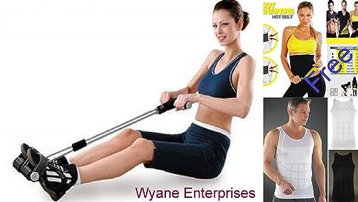 ac1915068e7 WYANE ENTERPRISES Combo of Double Spring Tummy Trimmer Abs Exerciser and  Slim and Men s Trucker Belt