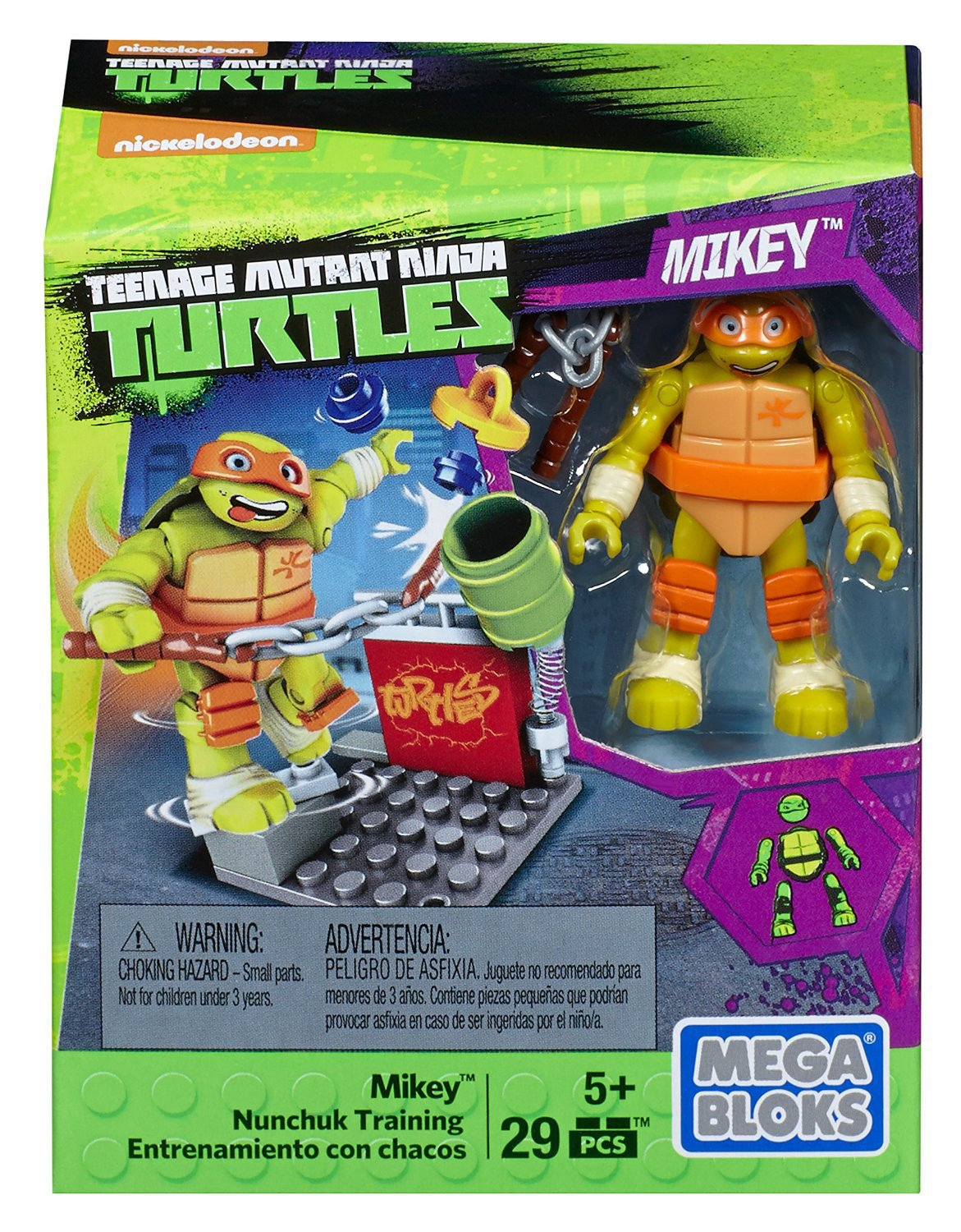 Mega Construx Teenage Mutant Ninja Turtles Mikey Nunchuk Training Pack
