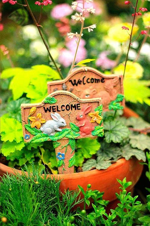 Sungmor - Adornos de Resina Coloridos para jardín o Patio en Palos | Decoración de Plantas para jardín | Adecuado Tanto para Uso Interior como Exterior, Kettle: Amazon.es: Jardín